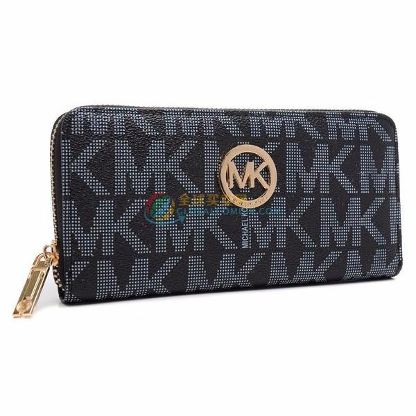 Michael Kors Monogram Continental Wallet Black