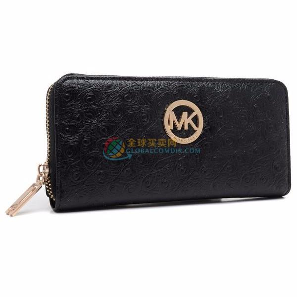 Michael Kors Wallet Jet Set Ziparound Continental Black