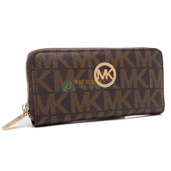 Michael Kors Wallet Continental Monogram Leather Brown