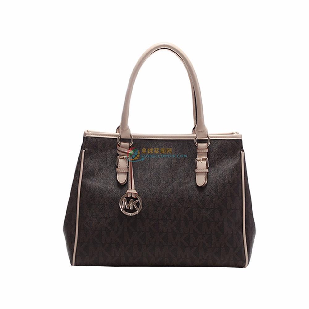 MICHAEL Michael Kors Medium Jet Set Logo Work Tote Vanilla Black